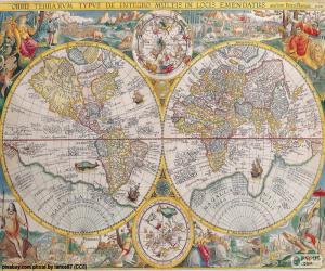 Układanka Mapy historyczne na świecie