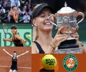 Układanka Maria Sharapova Roland Garros 2011 Champion