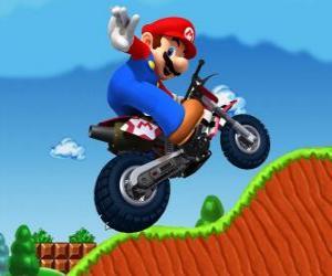 Układanka Mario Bros na motocyklu