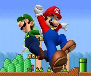 Układanka Mario i jego brat Luigi, najbardziej znanym Hydraulicy