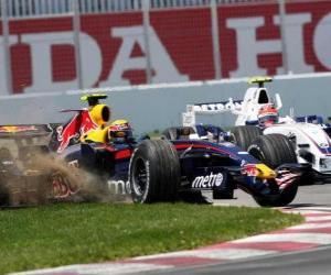 Układanka Mark Webber pilotowanie jej F1