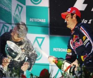 Układanka Mark Webber w podium
