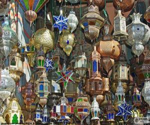 Układanka Marokańskie lampy
