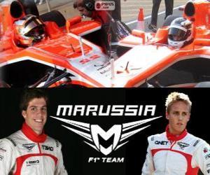 Układanka Marrussia F1 Team 2013