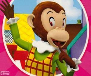 Układanka Martha Monkey żartuje do innych zabawek