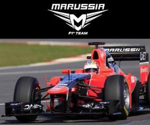 Układanka Marussia MR01 - 2012 -