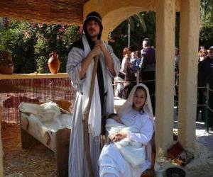Układanka Maryi, Józefa i Dzieciątka Jezus w żłobie życia