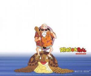 Układanka Master Roshi, Roshi Muten lub Kame Sennin, starożytny mistrz sztuk walki, która trenuje Son Goku i Krillin