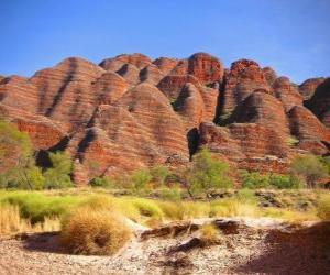 Układanka Masyw Bungle Bungle w Purnululu National Park, Australia.