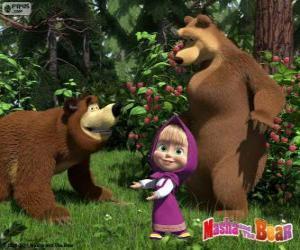 Układanka Masza z dwa niedźwiedzie