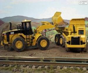 Układanka Maszyny budowlane pracy