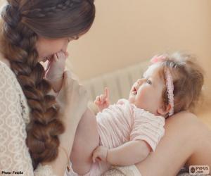 Układanka Matka i jej dziecko