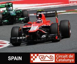 Układanka Max Chilton - Marussia - Circuit de Catalunya, Barcelona, 2013