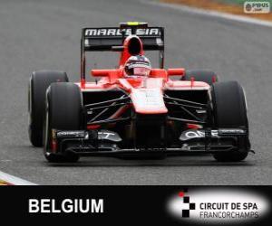 Układanka Max Chilton - Marussia - Spa-Francorchamps, 2013