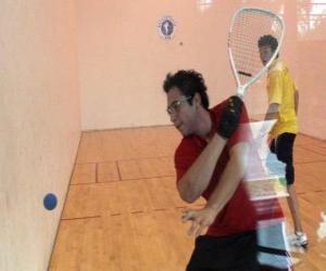 Układanka Mecz Racquetball