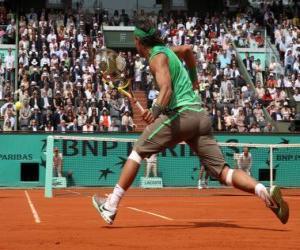 Układanka Mecz tenisowy z widzów na trybunach