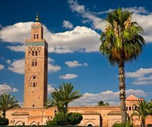 Układanka Meczet Koutoubia, Marrakesz, Maroko