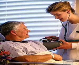 Układanka Medycznego lub lekarza, badanie pacjenta