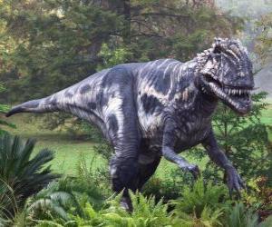 Układanka Megalozaur był dwunożnym drapieżnikiem około 9 metrów długości i około tony wagi