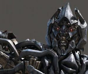Układanka Megatron jest złym wodzem Deceptikonów