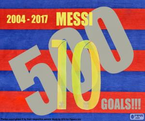 Układanka Messi 500 goli