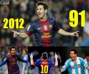 Układanka Messi zamyka 2012 z 91 cele