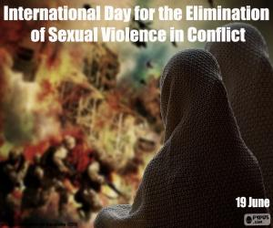 Układanka Międzynarodowego Dnia Eliminacji Przemocy Seksualnej w Konfliktach