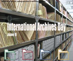 Układanka Międzynarodowy Dzień Archiwów