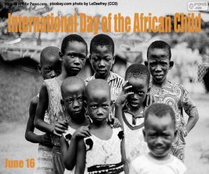 Układanka Międzynarodowy Dzień Dziecka Afrykańskiego