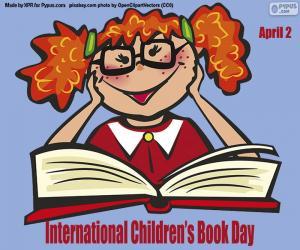 Układanka Międzynarodowy Dzień Książki Dla Dzieci