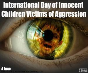 Układanka Międzynarodowy Dzień niewinnych dzieci ofiar agresji