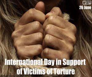 Układanka Międzynarodowy Dzień pomocy ofiarom tortur