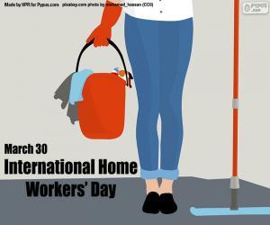 Układanka Międzynarodowy Dzień Pracowników Domowych