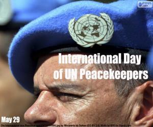Układanka Międzynarodowy Dzień Uczestników Misji Pokojowych ONZ