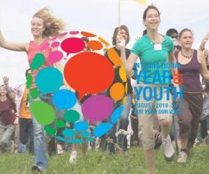 Układanka Międzynarodowy Rok Młodzieży. Sierpień 2010 - 2011. Nasz rok, nasz głos