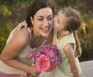 Układanka Miłość córkę do jej matka