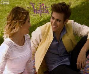 Układanka Miłość Violetta i Leon, Violetta 3