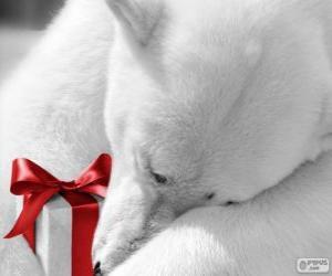 Układanka Miś polarny z prezentem