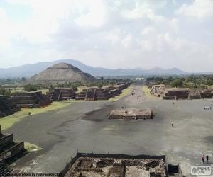 Układanka Miasto prekolumbijskie Teotihuacán