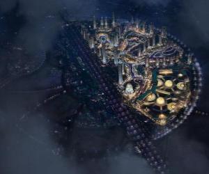 Układanka Miasto w przestrzeni międzygalaktycznej