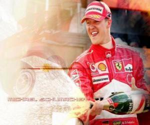 Układanka Michel Schumacher (Kaiser) na podium