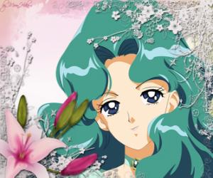 Układanka Michiru Kaio staje się Sailor Neptune, Czarodziejka z Neptuna