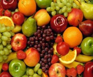 Układanka Mieszane owoce