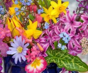 Układanka Mieszane wiosenne kwiaty