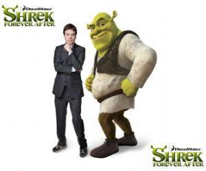 Układanka Mike Myers stanowi głos w filmie Shrek Shrek Forever Po najnowszych
