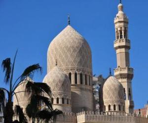 Układanka Minarety, wieże z meczetu