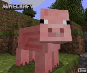 Układanka Minecraft świnia