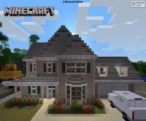 Układanka Minecraft House