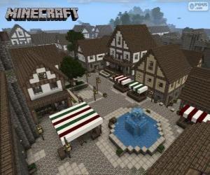 Układanka Minecraft wieś