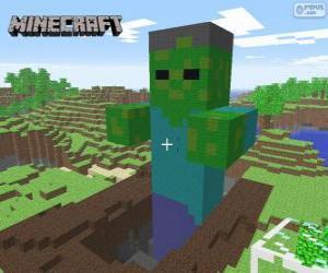 Układanka Minecraft Zombie